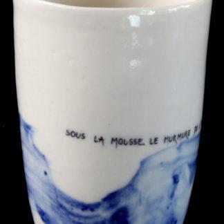 bol en porcelaine avec haiku